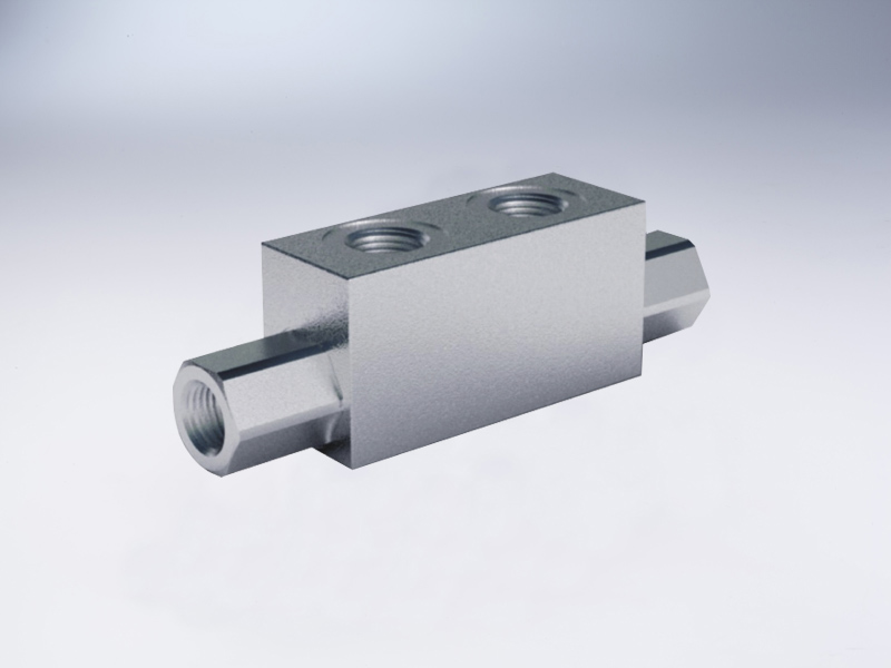 Double pilot operated check valve