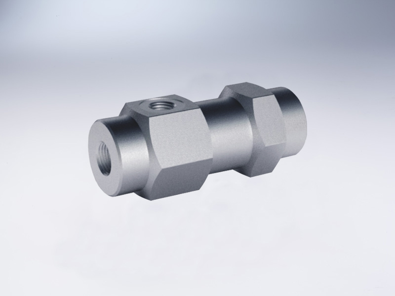 3 Ways single piot operated check valves,in line